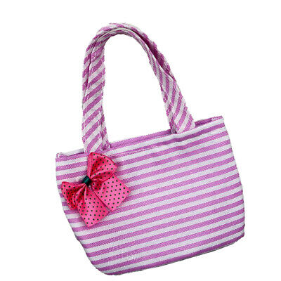 Handmade Pink Striped Handbag for 18 Inch American Girl Doll Accessories