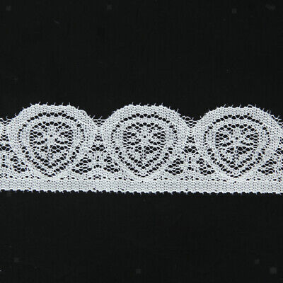Vintage Black Embroidery Lace Edge Trim Ribbon Wedding Applique DIY Sewing Craft