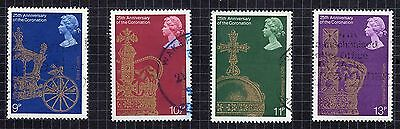 1978 25th Anniv of the Coronation SG 1059 to 1062 set Very Good Used R6990