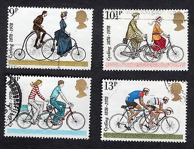 1978 Centenaries of Cyclists Club SG 1067 to 1070 set Very Good Used R6992