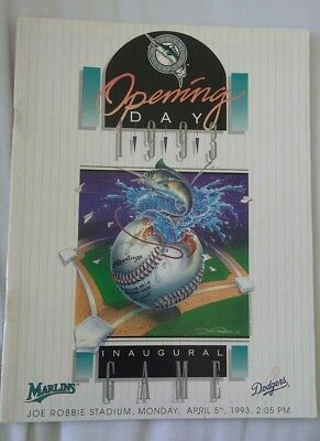 Florida Marlins 1993 Opening Day program-first game in franchise history