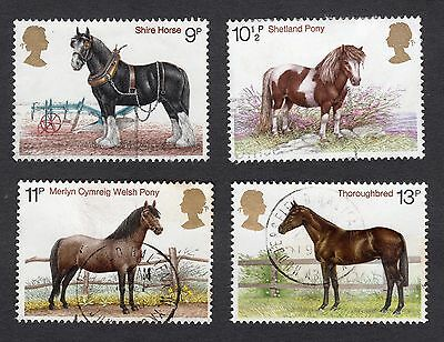 1978 Horses SG 1063 to 1066 set Good Used R6991