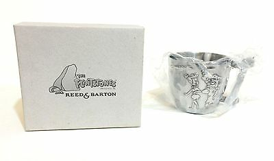 Reed & Barton Pewter Flintstones Baby Cup Made In Italy Fred Wilma Pebbles NIB