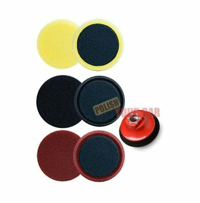 "Meguiars 3 x Spot Foam Pads 4"" 100mm Cutting Polishing Finish M14 Backing Kit"