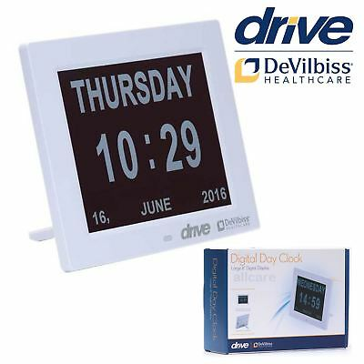 "Digital Day Clock. Large 8"" screen. Dementia and Memory Loss Disability Aid"