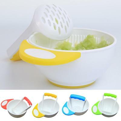 Baby Infant Learn Dishes Grinding Bowl Kids Handmade Grinding Food Mill