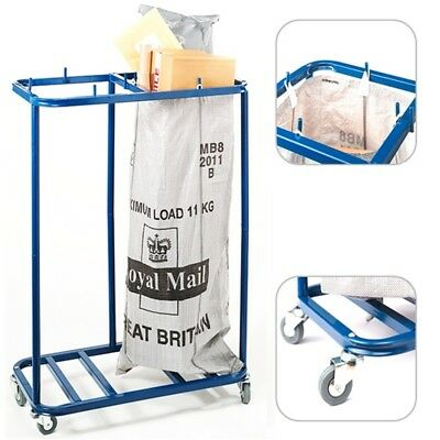 Mail Room Twin Sack Trolley - Royal Double Postage Post Bag Holder Sorting