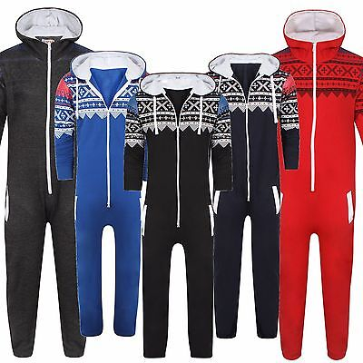 UNISEX MENS WOMENS LADIES ONESIE JUMPSUIT PRINT JUMPSUIT FLEECE HOOD not gerber