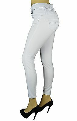 High Waist Stretch Push-Up colombian style Levanta Cola skinny jeans White 715WH