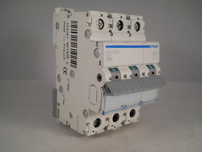 Hager MCB 20 Amp Triple Pole 3 Phase Circuit Breaker Type D 20A NDN320A