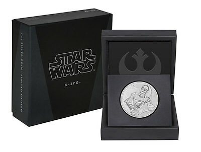2017 Niue Star Wars Classic - C-3PO 1 oz Silver Proof $2 Coin In OGP SKU48421