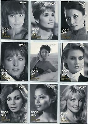 James Bond In Motion Complete Bond Girls Are Forever Chase Card Set BG49-72