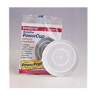 NEW! 8ct Presto PowerCup Microwave Concentrator Multi-Popper White Popcorn 09964