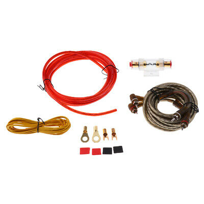 Universal Car Audio Amplifier Wire Kit RCA Ground Cable Fuse Holder Set