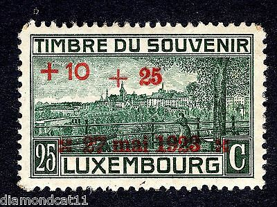 1921 Luxembourg 25c War Monument OPTD 10C and 25c SG 225 MOUNTED MINT R24248