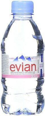 Evian Natural Mineral Water Bottles, 330ml ( Pack Of 24)