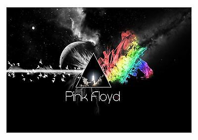 Abstract Music - Dark Side Of The Moon Pink Floyd Album Wall Art Canvas Pictures