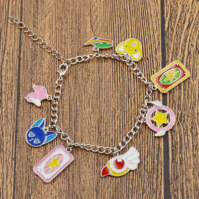 Anime Card Captor Sakura Star Wand Pendant Bracelet Chain Gift Girl Cosplay