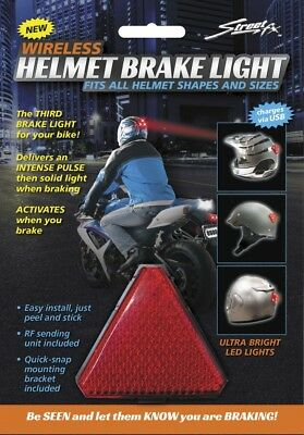 StreetFX LED Motorcycle Safety Third Brake Light Wireless Helmet Brake Light Kit