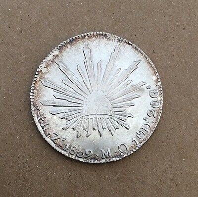 MEXICO  REPUBLIC  ZACATECAS MINT  1859-ZsMO  4 REALES SILVER COIN, XF/AU