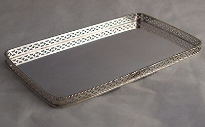 Elegant Dutch Solid Silver Dressing Table Tray - 252g - 1916