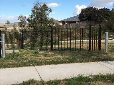 Black Garden Fence panel / Flat top Fencing /Yard panels1.2m*2.4m Only $53