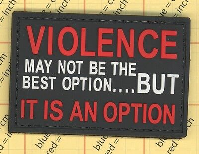 PVC VIOLENCE MAY NOT BE THE BEST OPTION BUT IT IS AN OPTION MORALE PATCH b7