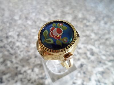 vintage watch ring size adjustable 1960s  Working