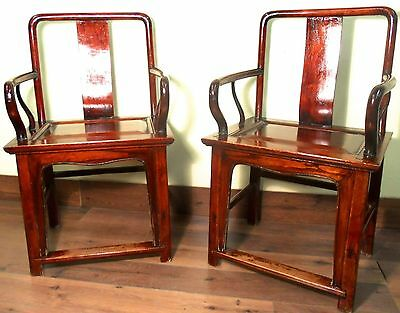 Antique Chinese Ming Arm Chairs (5056), (Pair), Circa 1800-1849