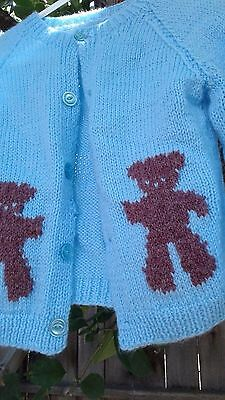 Vintage Handmade knit Child Toddler Cardigan Sweater Size 3-5