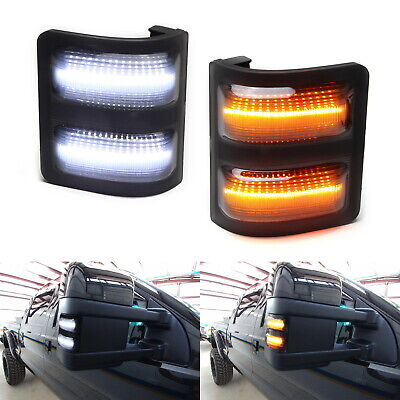 Smoked Lens Switchback LED Side Mirror Marker Lights For 2008-16 F250 F350 F450