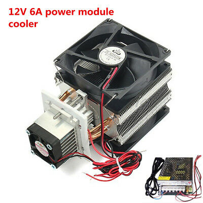 Thermoelectric Cooler Peltier Refrigeration Cooling System Kits W/ Power Module