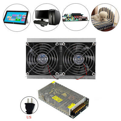 2 Core Refrigeration Thermoelectric Peltier Air Cooling Cooler + Power Supply