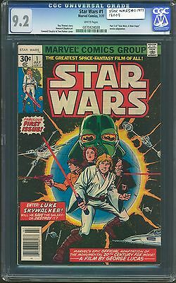 Star Wars #1 Cgc-Graded 9.2 Near Mint White Pages July 1977 Marvel