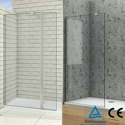 1950mm Heigh Walk in Shower Enclosure Wet Room Screen  Adjustable Angle Bar