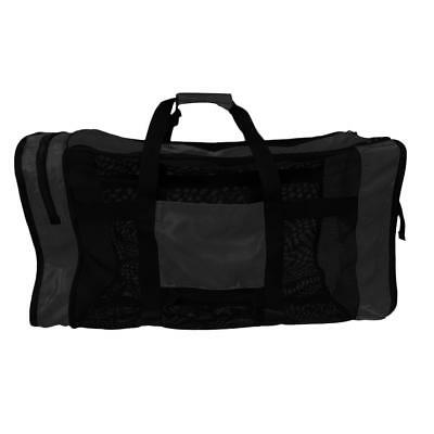 Mesh Duffel Gear Bag Shoulder Bag For Scuba Diving Snorkeling Swimming Black