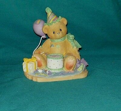 Cherished Teddies Bear You're the Frosting On the Birthday Cake figurine 1997