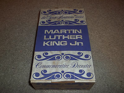"Vintage with Box Martin Luther King Jr. Wheaton 8"" Glass Bottle Brown Bronze MLK"