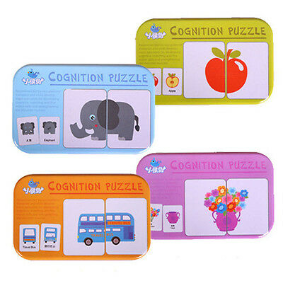 Popular Baby Early Heads Training Puzzle Vehicl/Fruit/Animal/Life Cognitive Card