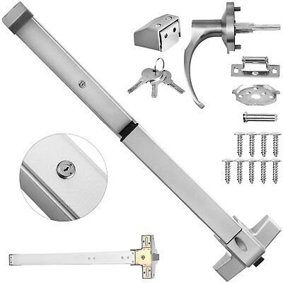 Door Push Bar With Keys Handle Panic Exit Device 28-36 Lock Emergency