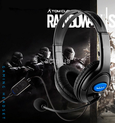 Gaming Headset Stereo Headphone 3.5mm Wired With Mic For PS4 US