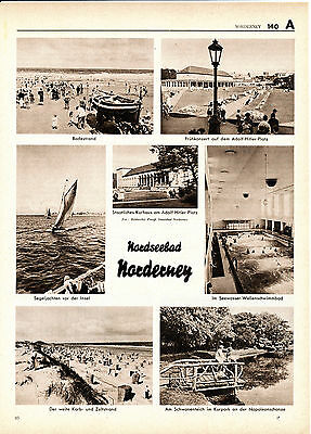 Norderney 1938 Photoblätter 18 Photos Pension Sanssouci Baltrum Esens Bensersiel