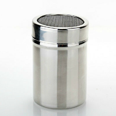 Chocolate Shaker Cocoa Flour Icing Sugar Powder Sifter Lid Stainless Steel HOT