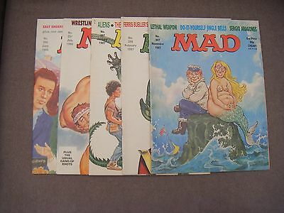 Five Vintage Uk Mad Magazines * Nos 290, 291, 297, 298, 307 *