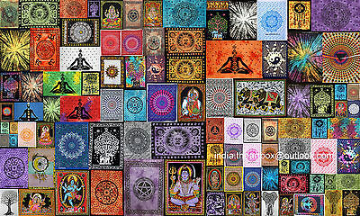 Indian Handmade Cotton Yoga Mat Poster Size Tapestry Ethnic Table Cover Decor Cm