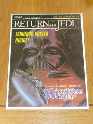 Star Wars Return Of The Jedi #81 January 5 1985 British Weekly Comic With Gift