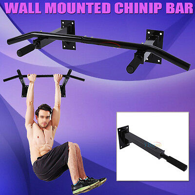 Chin Up Pull Up Bar Trainer Strength Training Gym Suspension Wall Mount  AU Sale