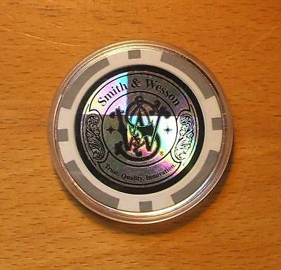Smith & Wesson Gray Poker Chip Card Guard Cover - Hologram Type Finish