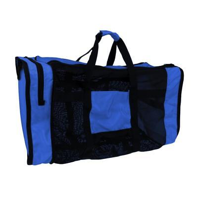 Backpack Mesh Deluxe Dive Bag Tote Bag- Scuba Diving / Snorkeling Gear Blue