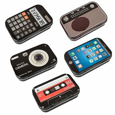 Retro Metal Storage Boxes Calculator Radio Camera Cassette Mobile Styled Tins